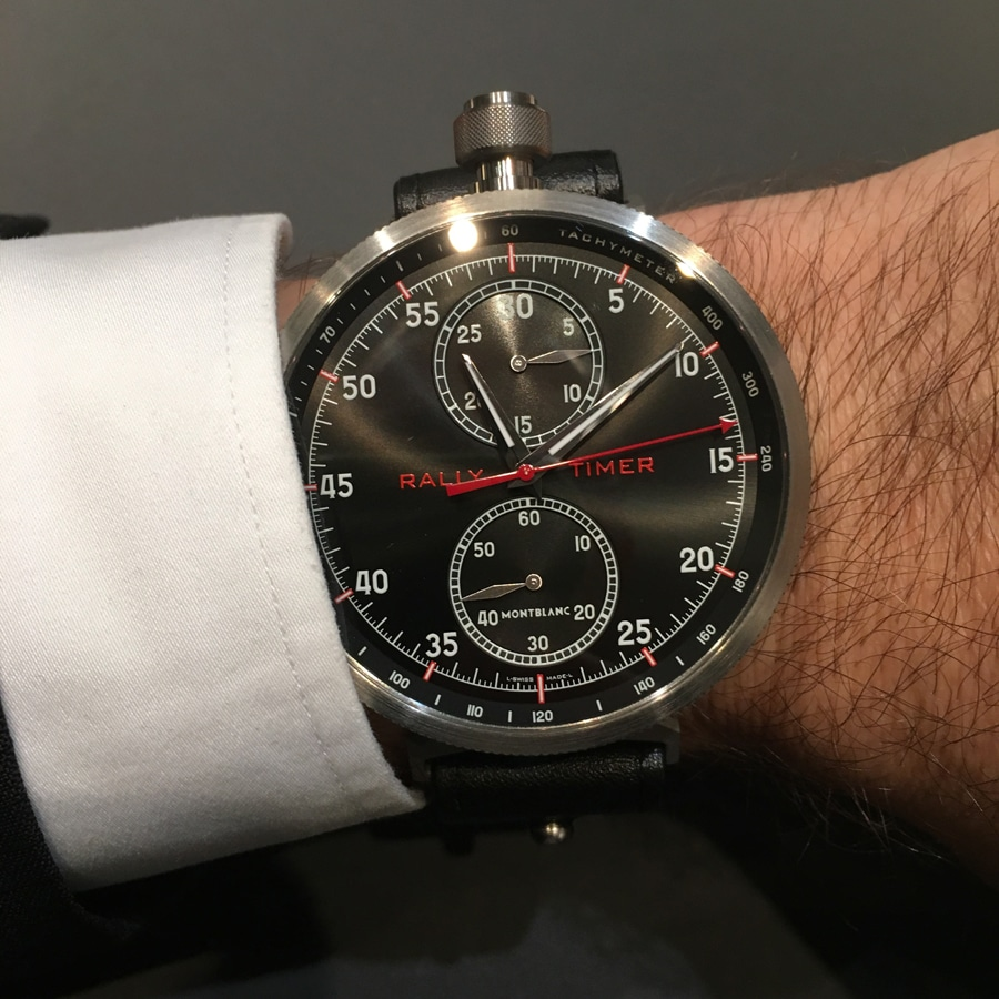 Wristshot des Montblanc TimeWalker Chronograph Rally Timer Counter Limited Edition 100