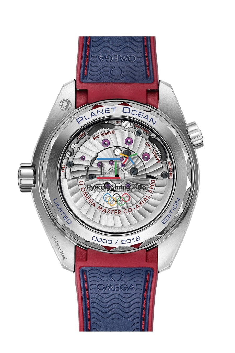 "Die Omega Seamaster Planet Ocean ""PyeongChang 2018"" ist mit dem Kaliber Co-Axial Master Chronometer 8900 ausgesattet"