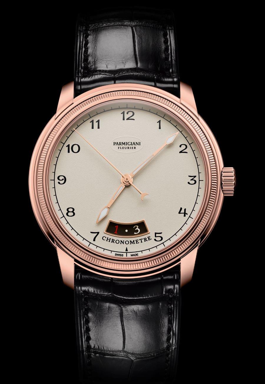 Parmigiani Fleurier: Toric Chronometer mit weißem Zifferblatt und Roségoldgehäuse