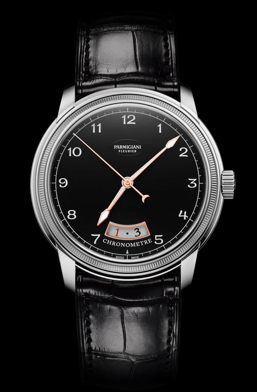 Parmigiani Fleurier: Toric Chronometer mit schwarzem Zifferblatt und Weißgoldgehäuse