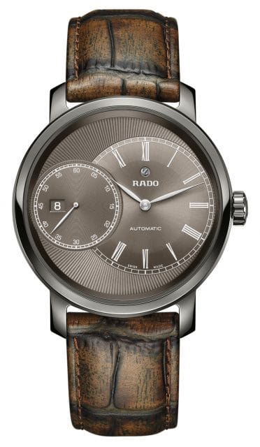 Rado: DiaMaster Grande Seconde in Grau-Braun