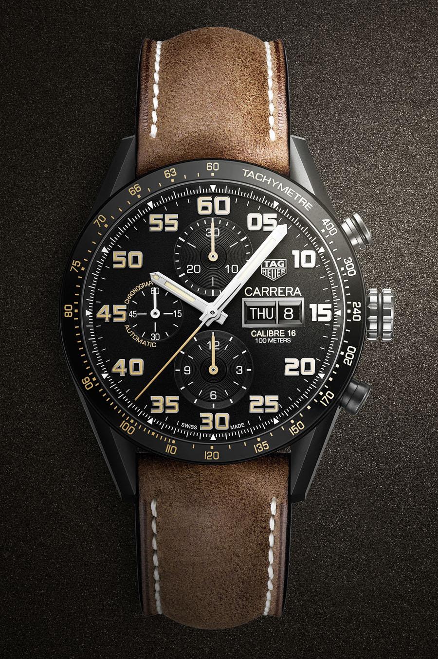 TAG Heuer: Carrera Calibre 16 Day-Date Chronograph Black Titanium
