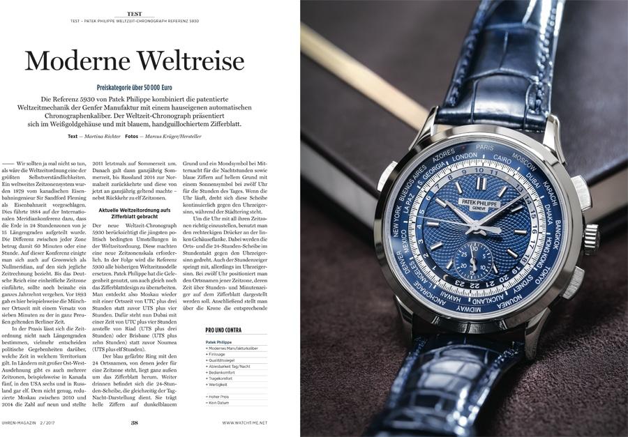 Im Test: Patek Philippe Weltzeit-Chronograph Referenz 5930