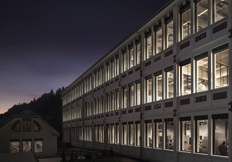 Das Zenith-Manufakturgebäude in Le Locle