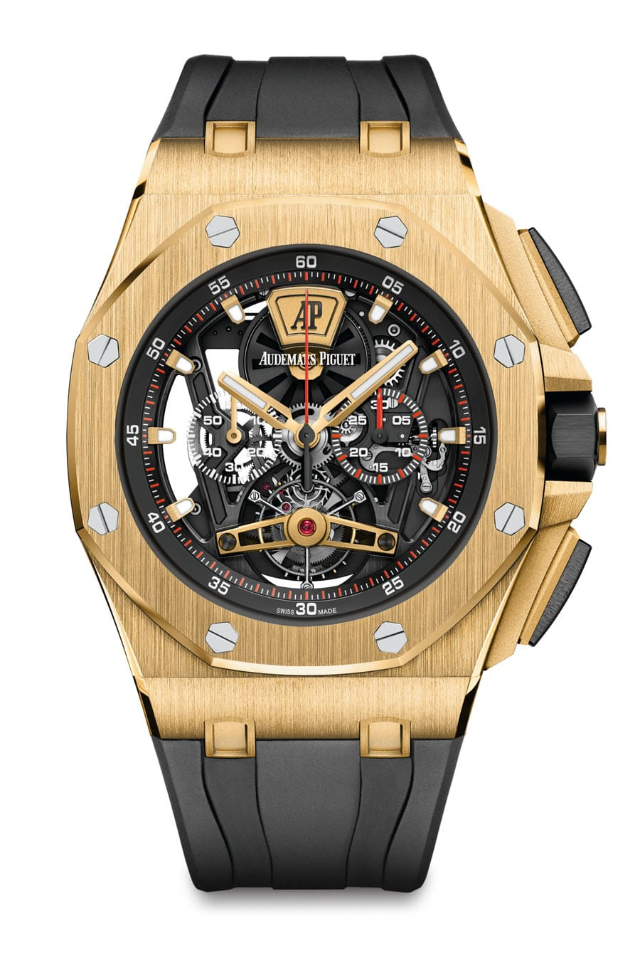 Audemars Piguet: Royal Oak Offshore Tourbillon Chronograph in der Gelbgoldversion