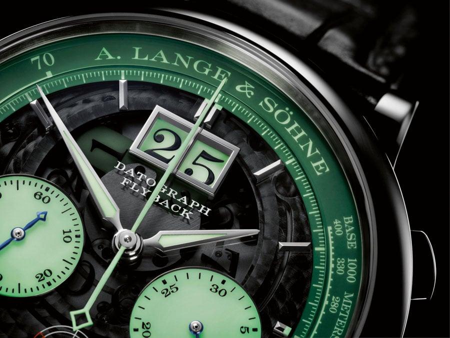 """A. Lange & Söhne: Datograph Auf/Ab """"Lumen"""" bei Nacht"""