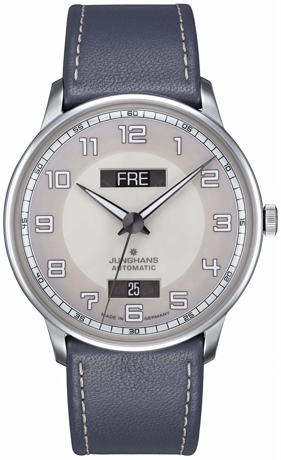 Junghans: Meister Driver Day Date mit grauem Band