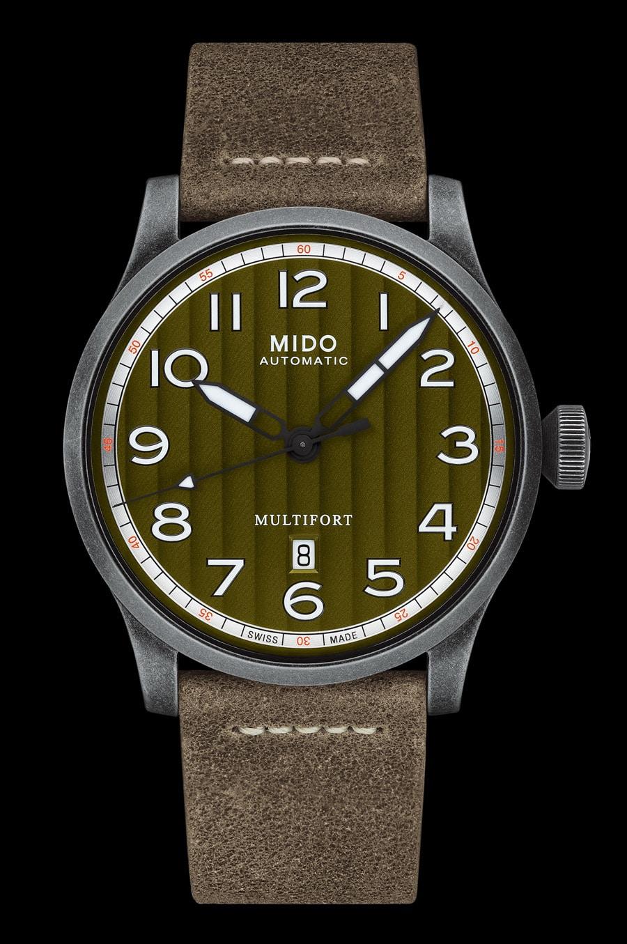 Mido: Multifort Escape mit khakifarbenem Zifferblatt