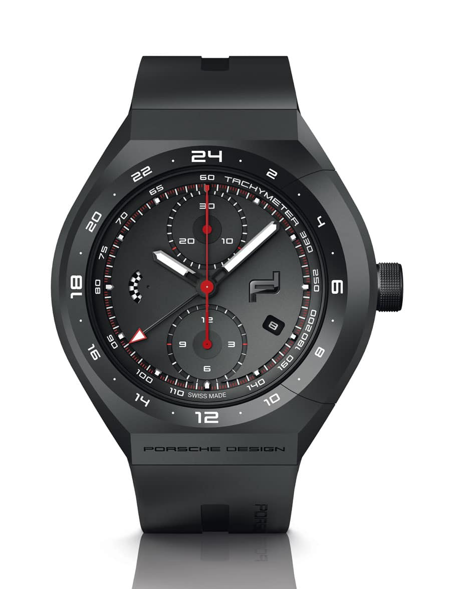 Porsche Design: Monobloc Actuator 24H-Chronotimer Black & Rubber