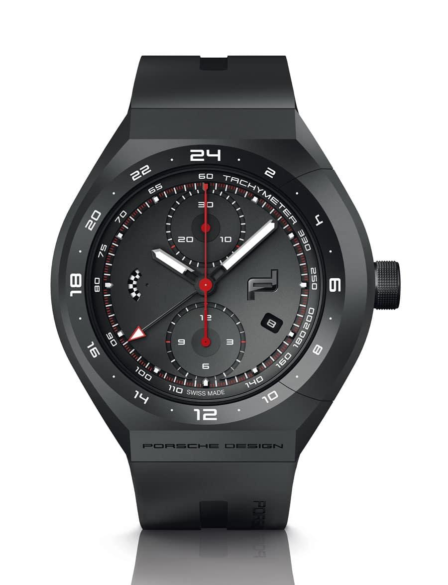 Porsche Design: Monobloc Actuator 24H-Chronotimer Black & Rubber