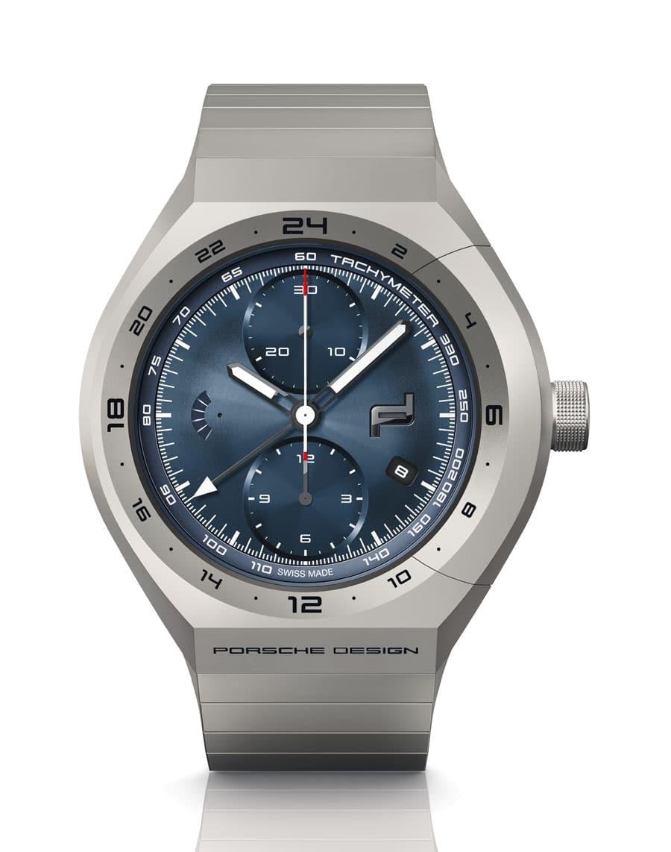 Porsche Design: Monobloc Actuator GMT-Chronotimer Titanium Blue