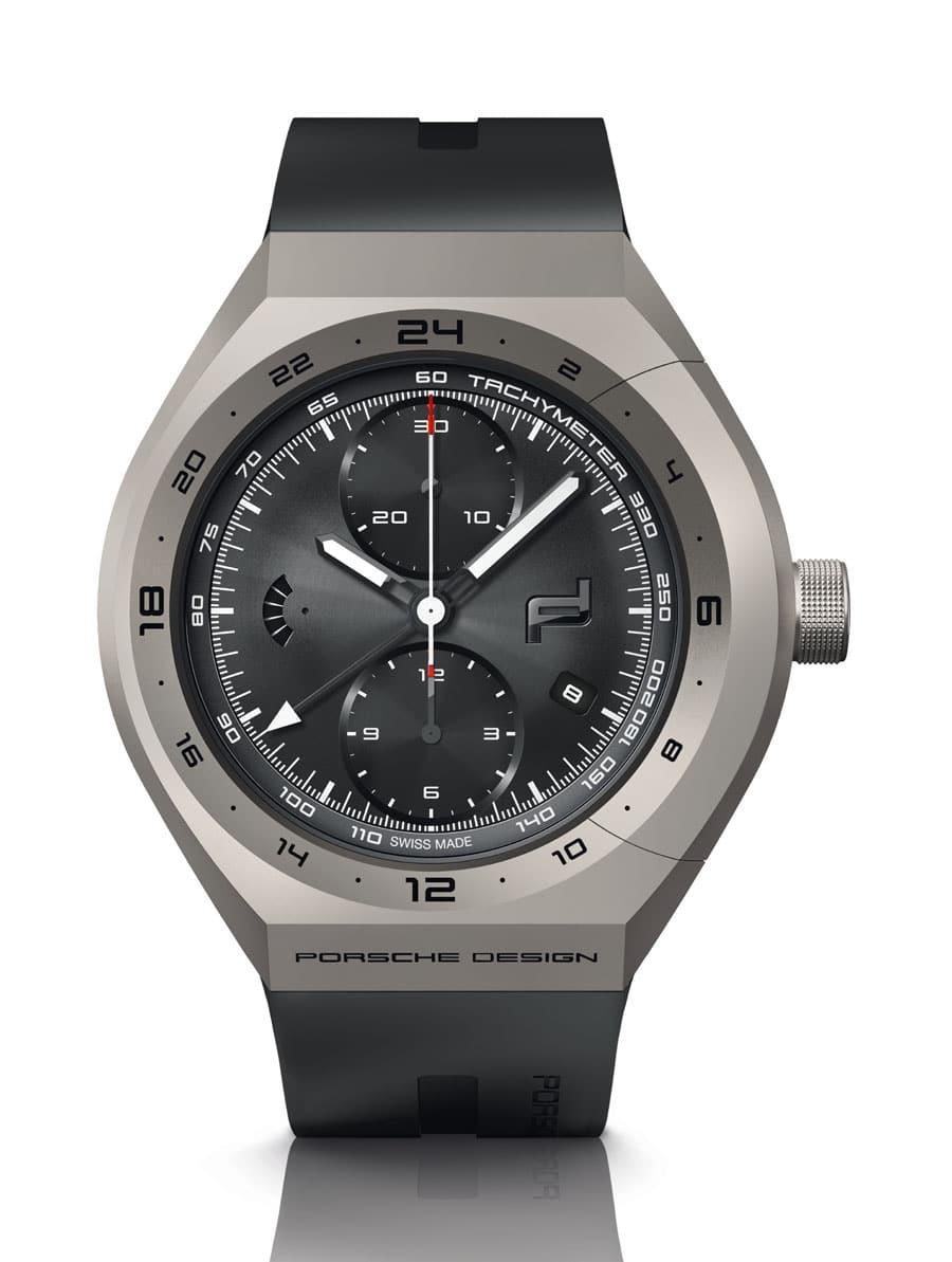 Porsche Design: Monobloc Actuator GMT-Chronotimer Titanium & Rubber
