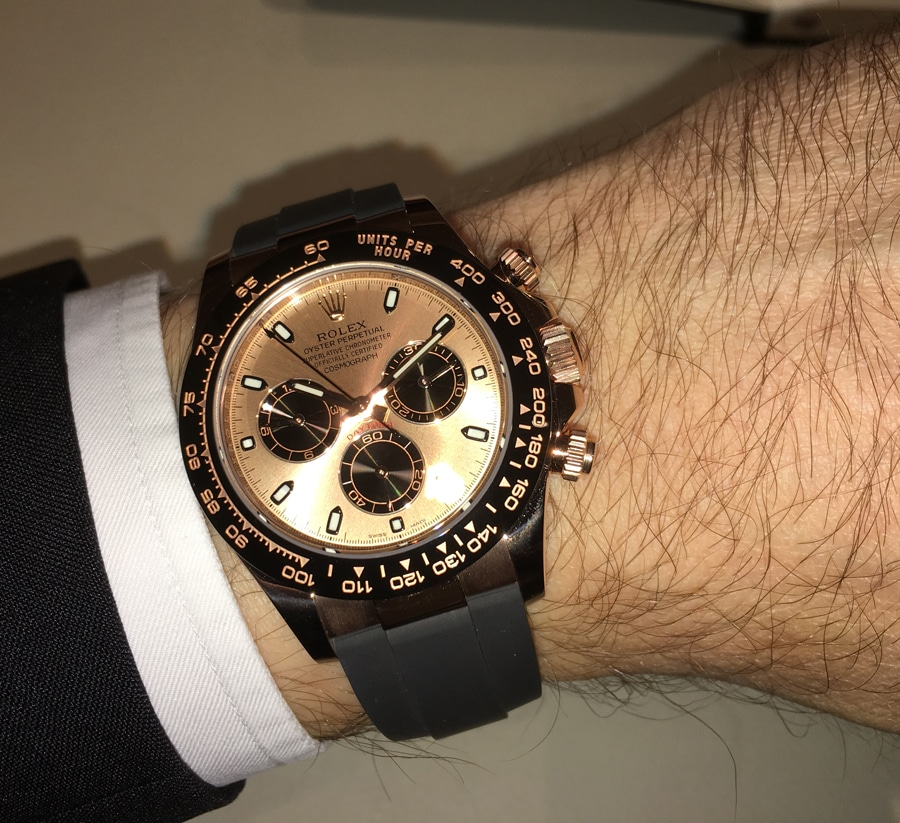Wristshot Rolex Oyster Perpetual Cosmograph Daytona in Gelbgold