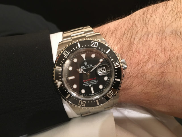 Wristhot der Rolex Oyster Perpetual Sea-Dweller