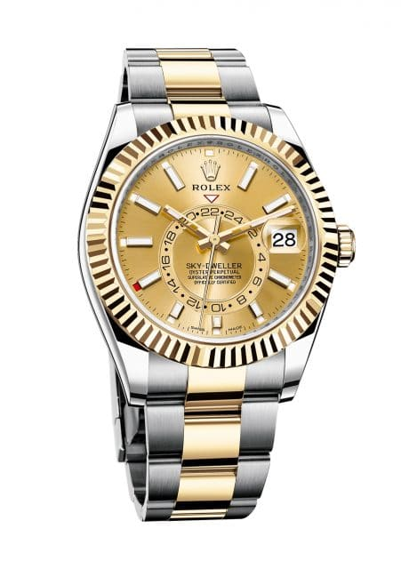 Rolex Oyster Perpetual Sky-Dweller in Edelstahl-Gelbgold