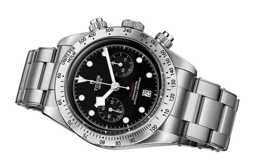 Tudor: Heritage Black Bay Chrono mit Metallband