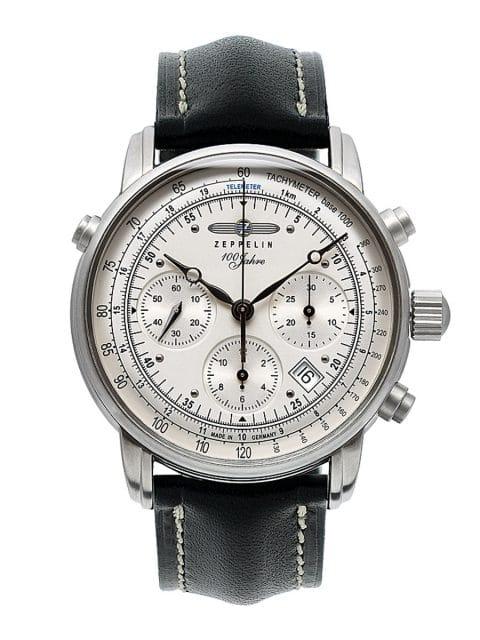 In der Sternwarte Glashütte geprüft: 100 Jahre Zeppelin Chronometer (2.299 €)