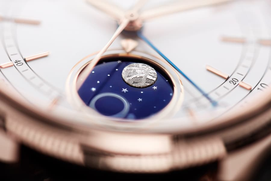Die Mondphasenanzeige der Rolex Cellini Moonphase