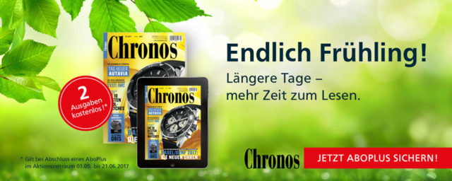 Aboaktion Frühling 2017 Chronos