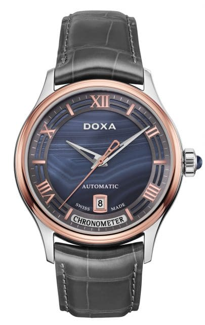 Doxa: Grande Metre Blue Planet Chronometre mit Achat-Zifferblatt
