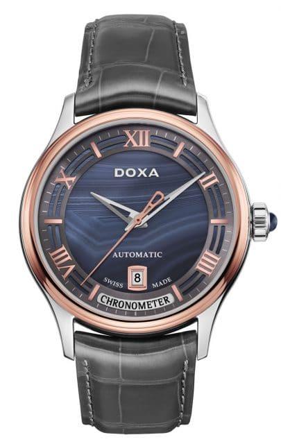 Doxa: Grande Metre Blue Planet Chronometre mit Achat-Zifferblatt