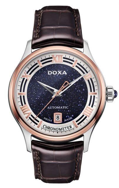 Doxa: Grande Metre Blue Planet Chronometre mit blauem Aventurin-Zifferblatt