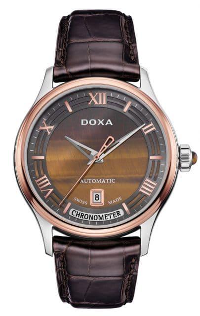 Doxa: Grande Metre Blue Planet Chronometre mit einem Zifferblatt aus Tigerauge