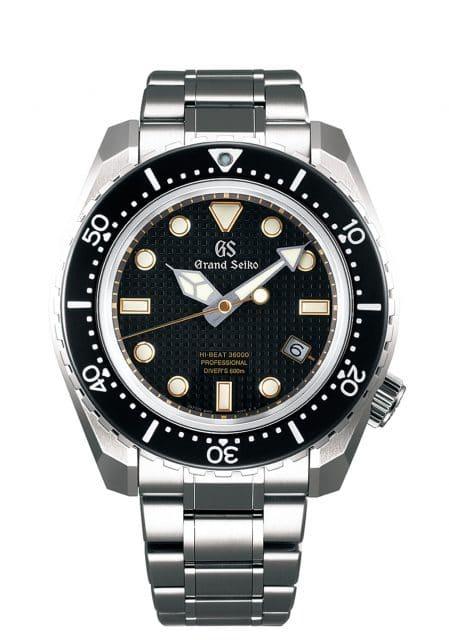Grand Seiko: Hi-Beat 36000 Professional 600m Diver's in Schwarz