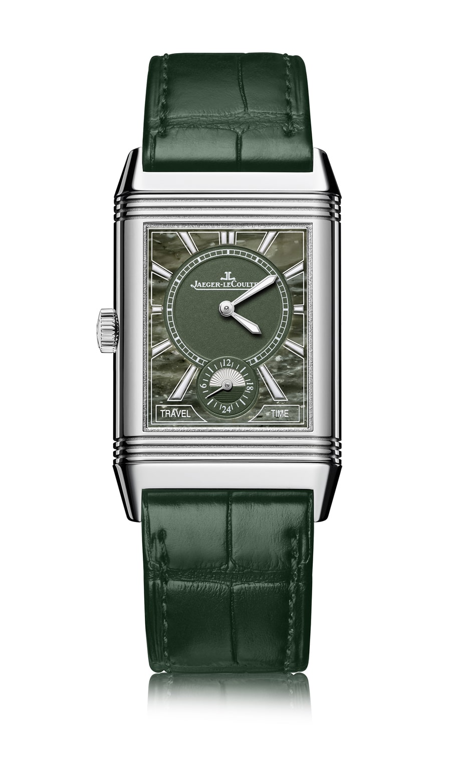 Jaeger-LeCoultre: Reverso Classic Large Duoface Small Second Military Marble