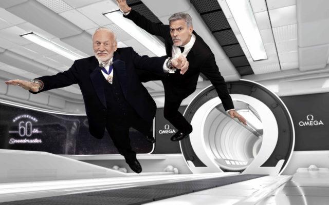"""Buzz Aldrin und George Clooney waren die Ehrengäste der Veranstaltung """"Lost in Space"""""""