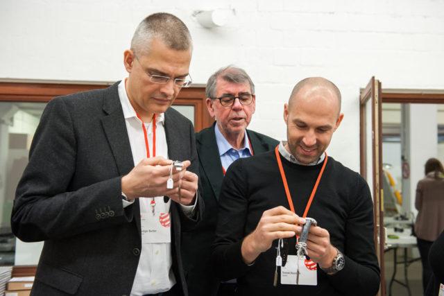 Die Red-Dot-Uhrenjury 2017: Rüdiger Bucher, Gisbert Brunner und Simon Husslein