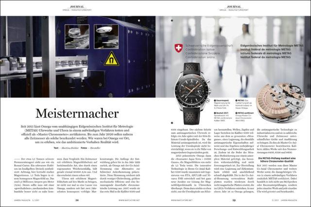 Das UHREN-MAGAZIN berichtet vor Ort von der neuen Prüfung zum »Master Chronometer«.