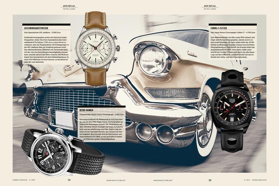 Mit diesen ausgewählten Retro-Uhren der UHREN-MAGAZIN-Redaktion sehen ihre Träger niemals alt aus.