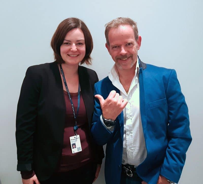Yvan Arpa (rechts) und Melissa Gößling, Redakteurin UHREN-MAGAZIN