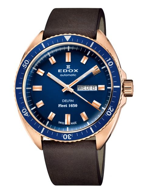 Edox: Delfin Fleet 1650 Limited Edition in Bronze