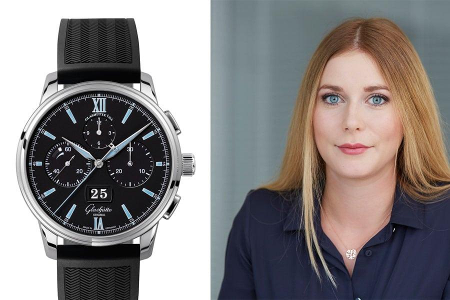 Glashütte Original Senator Chronograph Panoramadatum: Die beste Uhr der Baselworld 2017 für Nadja Ehrlich, Transaction Editor Volontärin Watchtime.net
