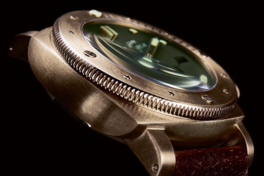 Panerai: Luminor Submersible mit Bronzeghäuse von 2013
