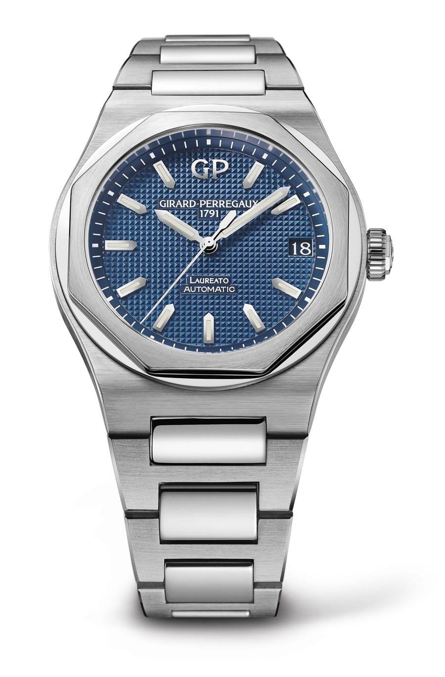 Girard-Perregaux: Laureato 42mm mit blauem Zifferblatt