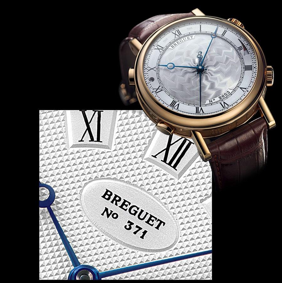 Breguet-Zifferblatt mit Individualnummer