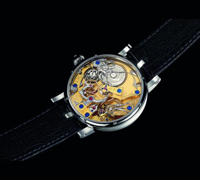 Viel Zeit nimmt das komplexe Chronographenkaliber IV des Modells Albert von Lang & Heyne in Anspruch