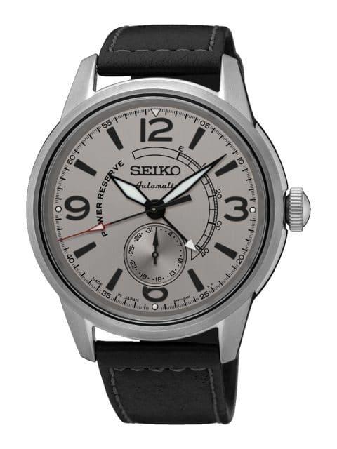 Seiko: Presage Automatik mit Gangreserveanzeige SSA337J1 in Edelstahl mit grauem Zifferblatt