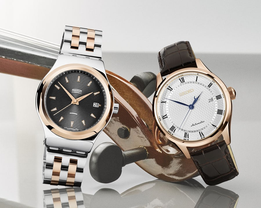 Swatch Sistem51 Irony und Seiko SRP772K1