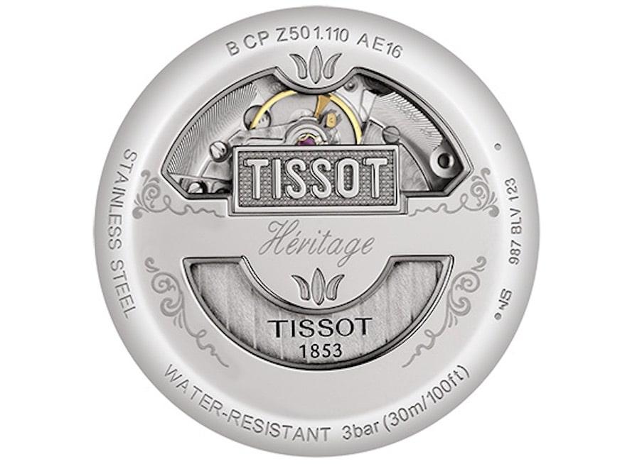 Im Inneren der Tissot Heritage 1948 arbeitet ein automatisches Chronographenwerk auf Basis des ETA-Kalibers 2894-A2 .