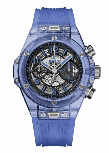 Hublot: Big Bang Unico Sapphire in Blau