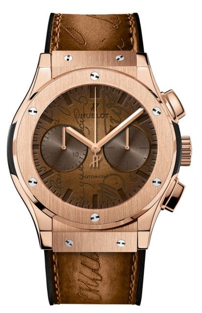 Hublot: Classic Fusion Chronograph Berluti in King Gold