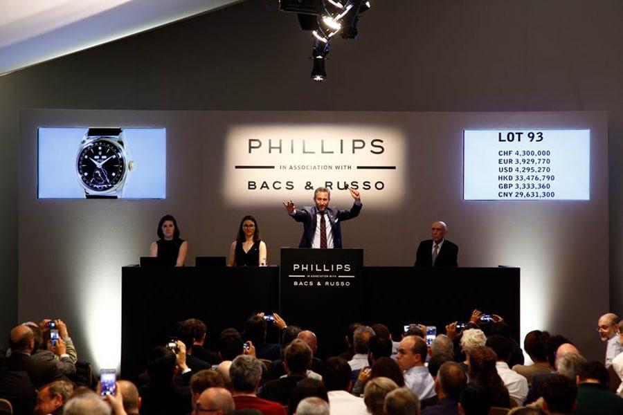 """Historischer Moment: Versteigerung der Rolex 6062 """"Bao Dai"""" am 13. Mai 2017 bei Phillips in Genf"""