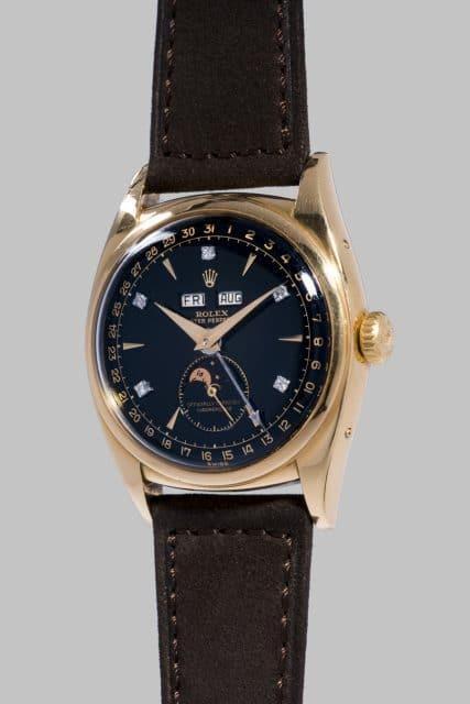 """Das ist die teuerste Rolex: 6062 """"Bao Dai"""", hier am Lederband"""
