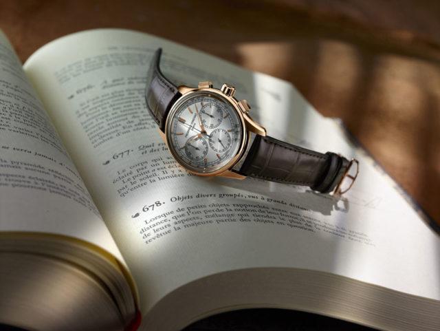 Frédérique Constant: Flyback Chronograph Manfacture rosérgoldfarben mit silberfarbenem Zifferblatt