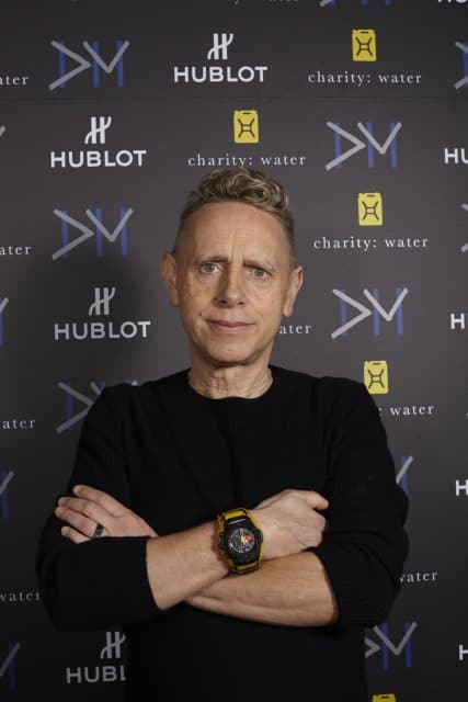 "Martin Gore von Depeche mit der Hublot Big Bang Depeche Mode ""The Singles"" Limited Edition Modell ""Dream On"""