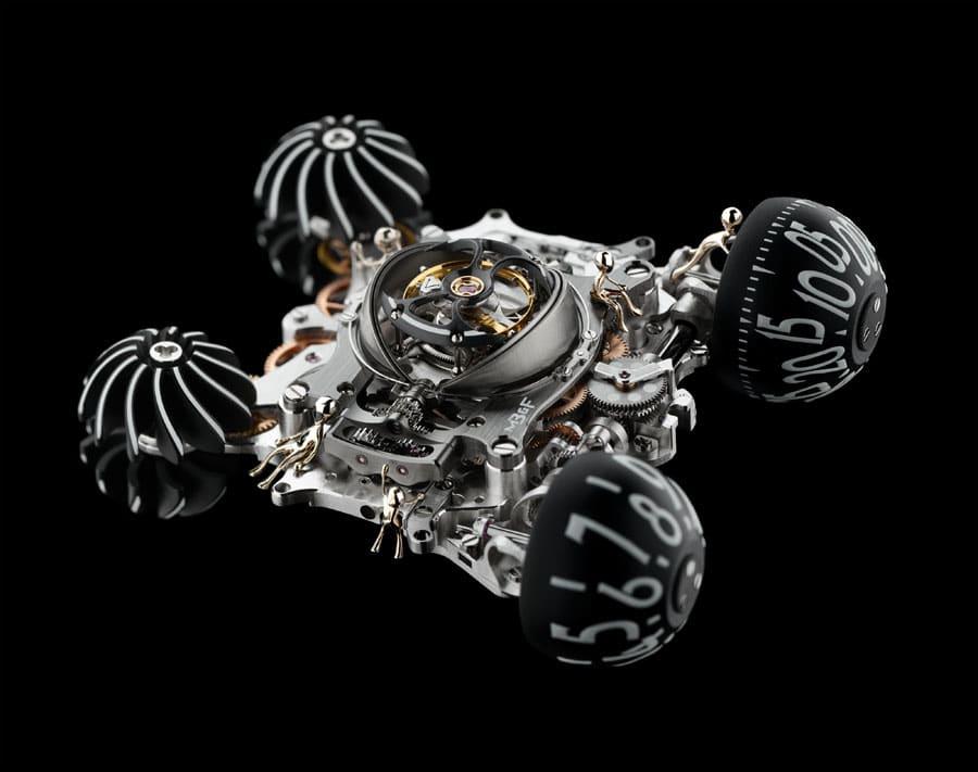 """Das Automatikwerk """"Maschine"""" der MB&F HM6 Alien Nation"""